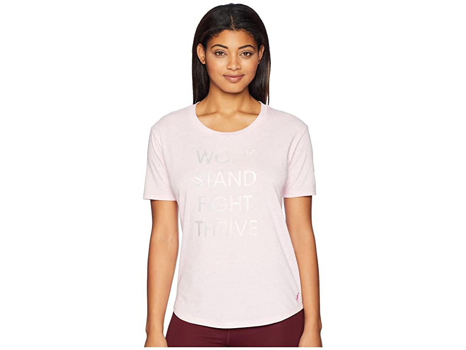 New Balance Heather Tech Graphic Tee (Pink) Women