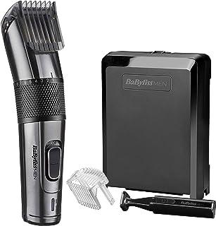 BaByliss MEN E978E Cortapelos profesional, cuchillas de titanio de carbono, 60 minutos de autonomía, uso con/sin cable, 26 longitudes de corte de 0.5 a 25mm