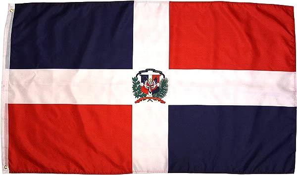 High Supply Dominican Republic Flag 3x5 Feet National Flag Bandera De Republica Dominicana Outdoor Flag W Brass Grommets