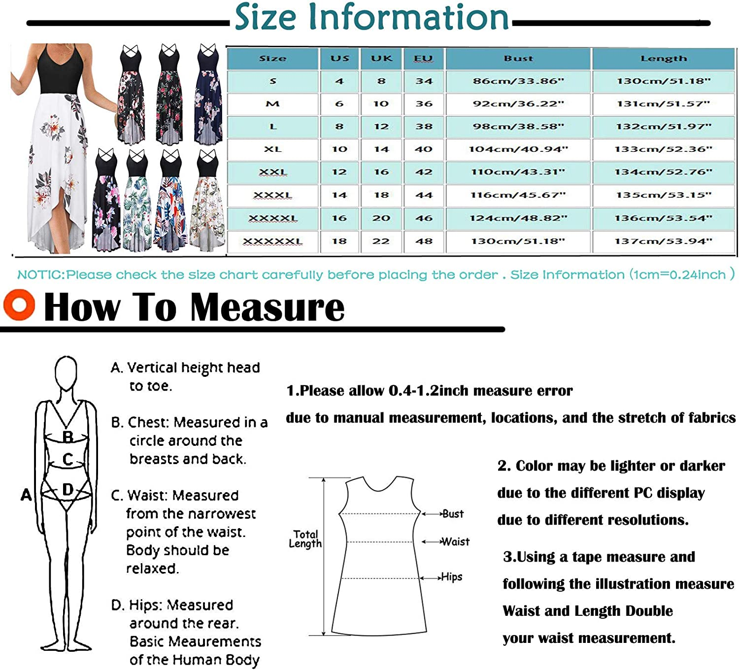ONHUON Casual Dresses for Women,Womens Dresses Summer Dress Solid Color V Neck Sleeveless Loose Beach Party Long Dresses