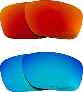 Replacement Lenses Compatible with OAKLEY TINCAN Polarized Blue & Red