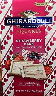 Ghirardelli Limited Edition Strawberry Bark Squares, 7.9 OZ bag