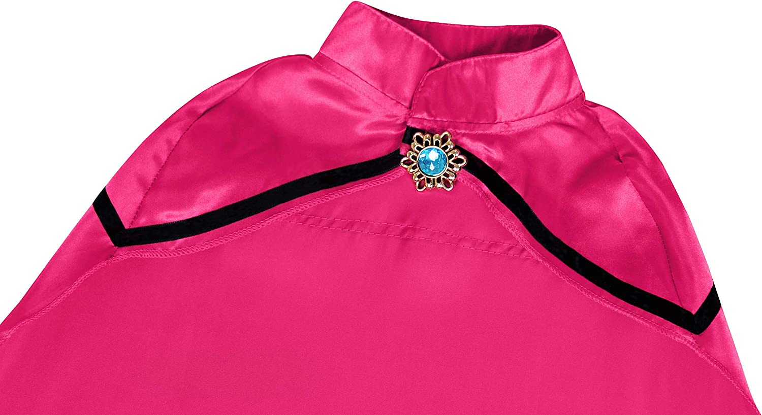 AmzBarley Girls Princess Coronation Dress Halloween Party Costume Dress up Long Sleeve Winter Outfits with Cape