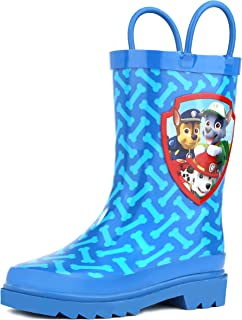 Paw Patrol Boys Blue Rain Boots (Toddler/Little Kids) (3 M US Little Kid)