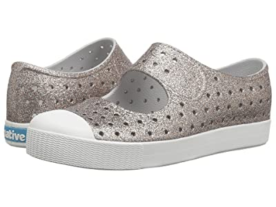 Native Kids Shoes Juniper Bling (Little Kid) (Metal Bling/Shell White) Girls Shoes