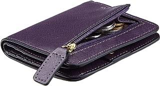 Womens Rfid Blocking Small Compact Bifold Luxury Genuine...