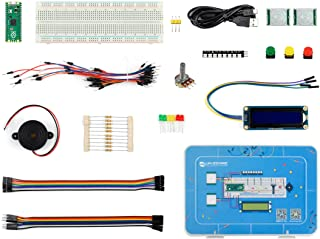 Raspberry Pi Pico Basic Kit with Detailed Online Tutorials MicroPython Programming Learning Kit, Pico with Pre-Soldered He...