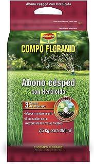 Compo FLORANID Abono césped con herbicida, Larga duración de hasta 3 Meses, para 250 m², 7.5 kg