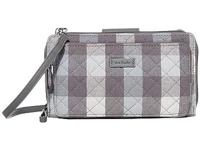 Vera Bradley Iconic Deluxe All Together Crossbody (Neutral Buffalo Check) Cross Body Handbags