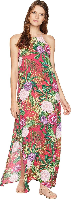 American pink Womens Tropical Print Maxi Dress