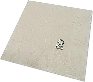 BIOZOYG Bio Serviettes écologiques en Papier recyclé I Serviettes en Papier de Haute qualité 33 x 33 cm I 2400 pièces à Co...