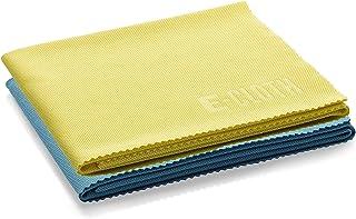 E-Cloth Chiffon de nettoyage pour lunettes, Microfibre, Jaune & Bleu, Pack de 2