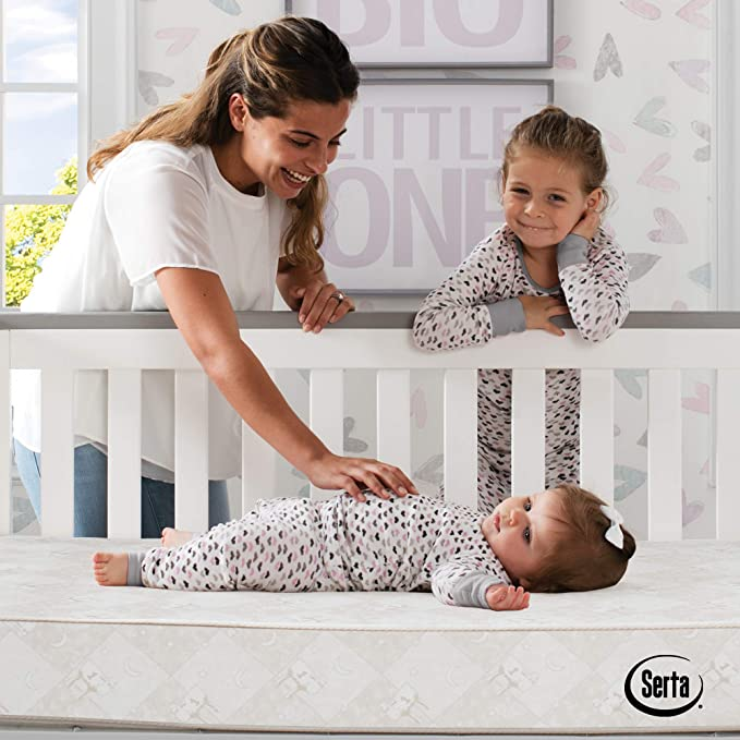 Serta Tranquility Eco Firm Innerspring Crib and Toddler Mattress
