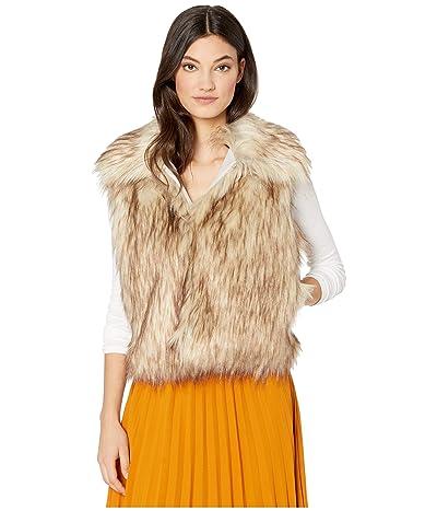 Cupcakes and Cashmere Jackie Faux Fur Short Vest (Latte) Women