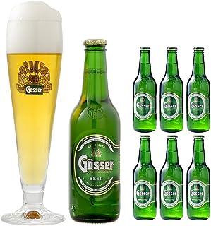 【乾杯セット】 ゲッサー ピルスナー ビール 330ml ボトル 6本 + 専用グラス 2個 セット