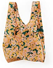 BAGGU Standard Reusable Shopping Bag, Ripstop Nylon Grocery Tote or Lunch Bag, Blush Bougainvillea