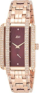 JBW Luxury Women's Mink 12 Diamonds & 280 Swarovski Crystals Metal Watch