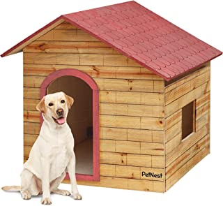 PetNest Wooden Water Proof Dog House Outdoor Ideal for Large Size Dogs Labrador and German Shepherd