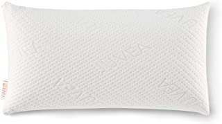 JUVEA 100% Natural Premium American Talalay Latex Supportive Bed Pillow for Sleeping with 100% Cotton Certified Organic Ultra Soft, Breathable Cover, King High Profile – Made in USA