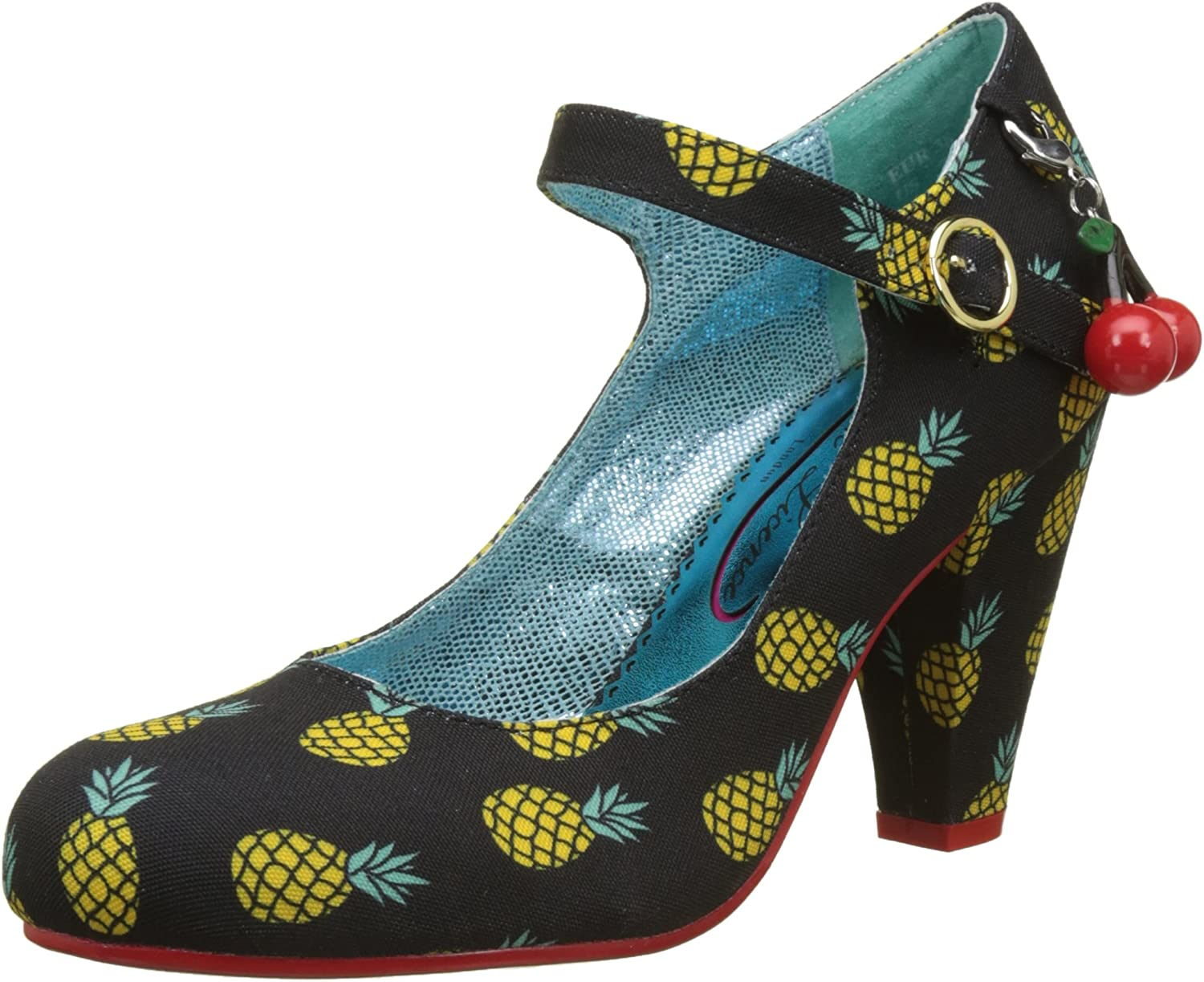Poetic Licence Irregular Choice Right Stripes Black Yellow shoes Heel Size