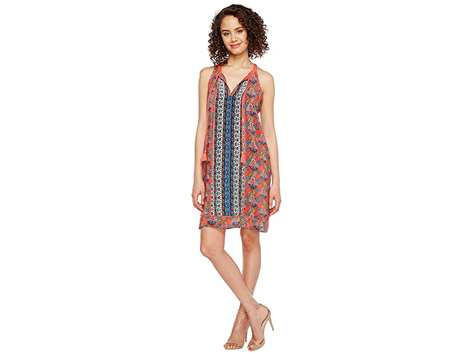 Tolani Savannah Sleeveless Tunic Dress (Coral) Women