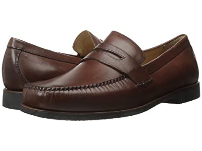 Johnston & Murphy Ainsworth Penny Loafer (Antique Mahogany Veal) Men