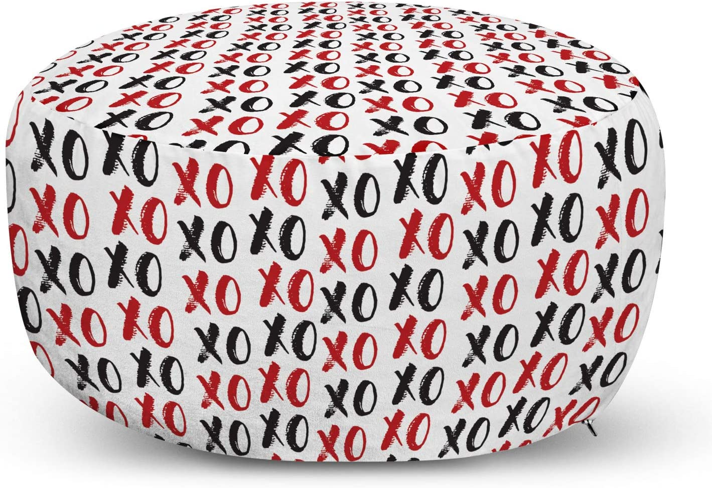Ambesonne Abstract Pouf Cover with online shop H Calligraphic Grungy Ultra-Cheap Deals Zipper