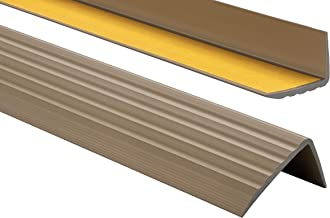 ProfiPVC Zelf klevende PVC trap neus - trapprofiel van getest PVC, anti-slip, 41x25mm 80cm, Messing