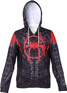 Superhero Halloween New into The Spider Verse Miles Morales Cosplay Costume Men Hoodie