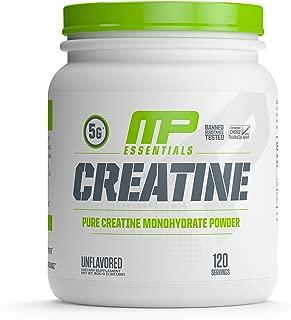 MP Essentials Micronized Creatine, Ultra-Pure 100% Creatine Monohydrate Powder, Muscle-Building, Protein Creatine Powder, Creatine Monohydrate Powder, 600 g, 120 Servings