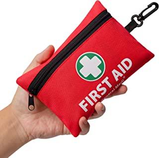 کیت کمکهای اولیه عمومی Medi Mini ، 92 قطعه کمکی برای اولین بار - شامل پتو فویل اضطراری ، ماسک صورت CPR ، قیچی برای سفر ، خانه ، دفتر ، وسیله نقلیه ، کمپینگ ، محیط کار و فضای باز (قرمز)