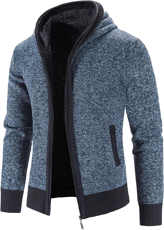 OFFicial mail order Plus Fashion Velvet Thicken Hoodies Mens Cardigan Jacket Sli Cotton Warm