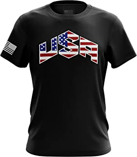 Best U.S Flag Patriotic Military Army Mens T-Shirt Printed & Packaged in The USA Review