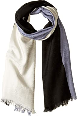 Color Block Traveler Oblong Scarf
