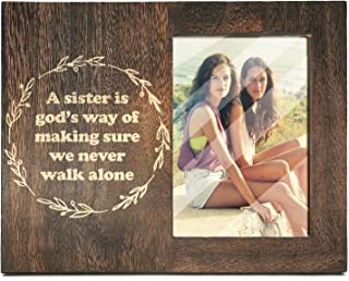 Ku-dayi A Sister is God's Way of Making Sure we Never Walk Alone, Photo Picture Frame for Sister Gift,Step Sister,Best Friend