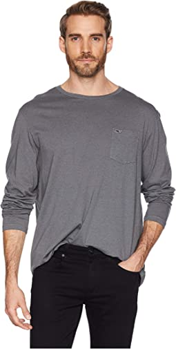 Long Sleeve Overdyed Heather Tee