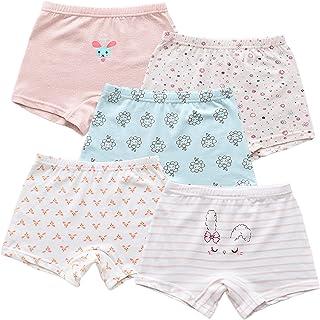Nightease Mutande Bambine e Ragazze in Cotone Confezione da 12 Pezzi di Slip Intimo per Bambini dai 2 ai 12 Anni