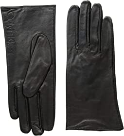 Leather/Suede Gloves w/ Debossed Logo