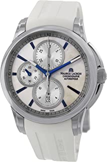 Maurice Lacroix Pontos Automatic Movement Mother Of Pearl Dial Men's Watch PT6188-SS001-132-1