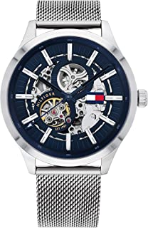 Tommy Hilfiger Men'S Navy Dial Stainless Steel Watch - 1791643