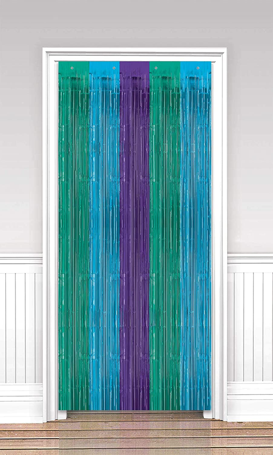 amscan Shades of Blue Direct stock discount Party - Attention brand pc Door 1 Curtain