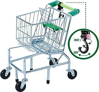 Teamson Kids Supermarket glad shoppingvagn lekset leksak metall/grön TK-M0002
