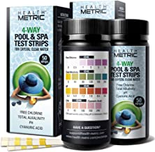 Pool and Spa Test Strips 100 ct - 4 Way Swimming Pool Testing Strip Kit for Chlorine Alkalinity pH and Cyanuric Acid | Easy to Use Chemical Tester for Fast & Accurate Water Maintenance | 2 x 50 Count