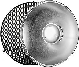 "Godox 21"" 55cm Beauty Dish Reflector with Honeycomb Grid for Bowens Mount Studio Flash Strobe Monolight Such as Godox Witstro AD400PRO AD600PRO AD600B AD600BM"