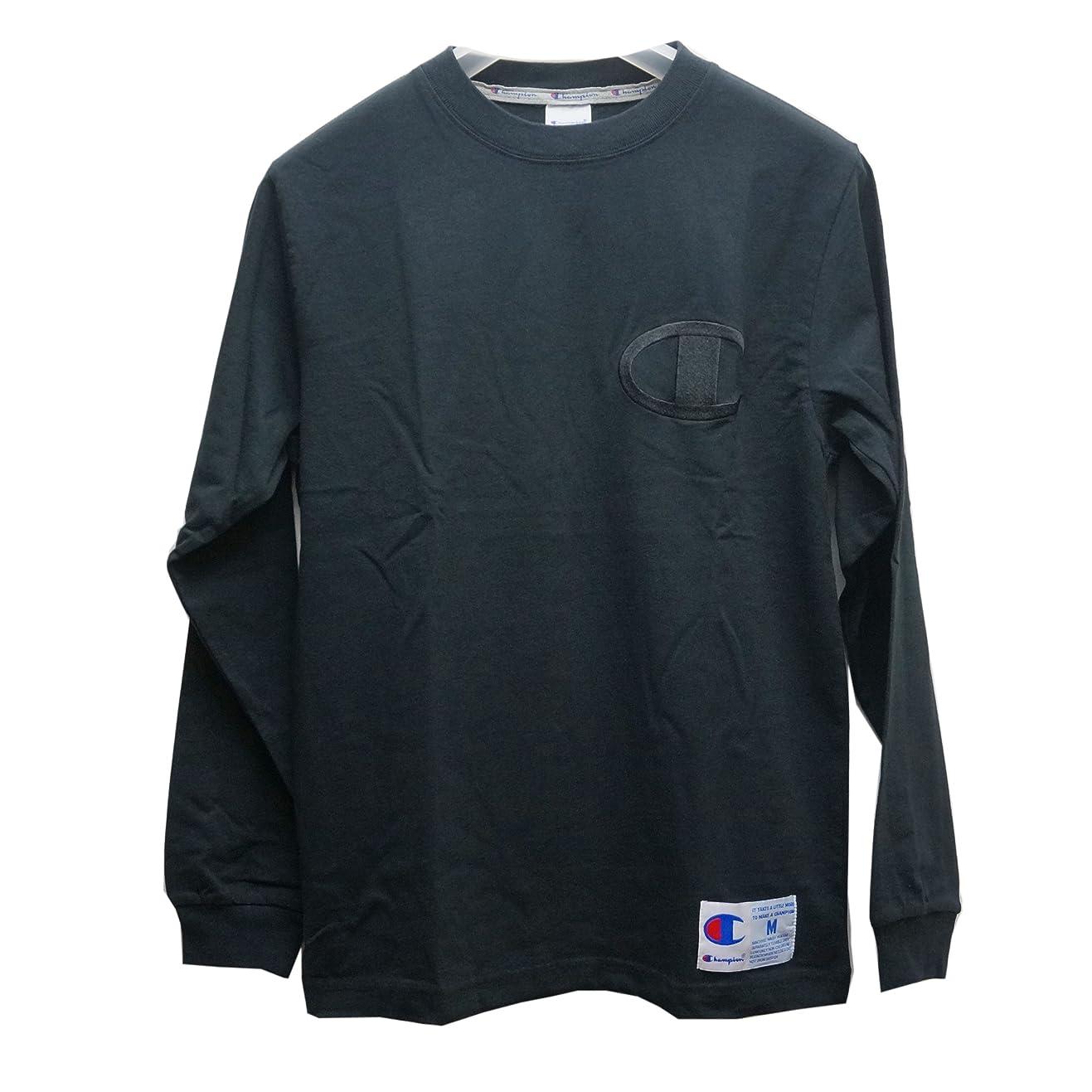 最小化するバランスのとれた日焼け(チャンピオン) CHAMPION ロンT BIG LOGO L/S Tee ブラック 黒 BLACK C3-L422 メンズ 長袖