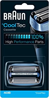 Braun Shaver Replacement Part 40B Blue, Compatible with Cooltec Shavers