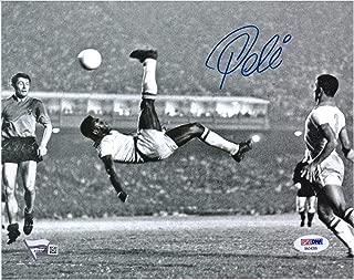 Pele Brazil Autographed 8