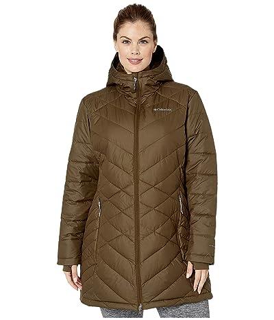 Columbia Plus Size Heavenly Long Hooded Jacket (Olive Green) Women
