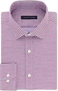 Mens Athletic Fit Stretch Button-Down Shirt