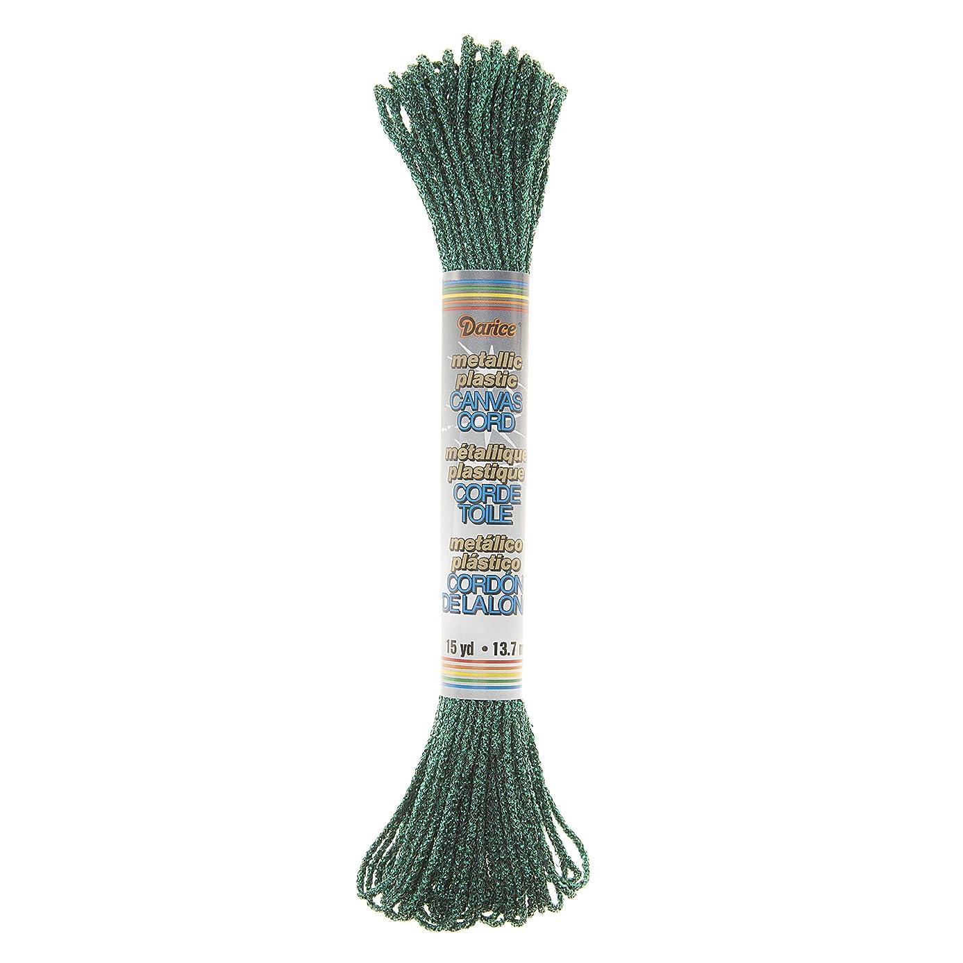 Darice 05607 Craft Cord Metal, Green